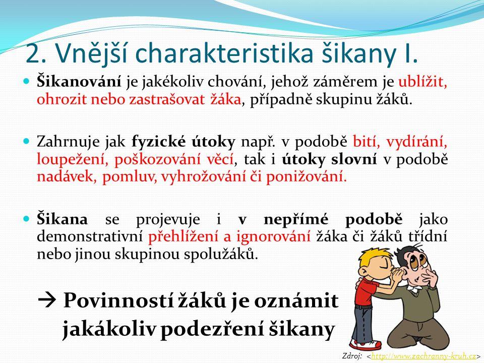 2.Vnější charakteristika šikany II.