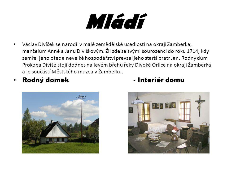 Mládí Václav Divíšek se narodil v malé zemědělské usedlosti na okraji Žamberka, manželům Anně a Janu Divíškovým. Žil zde se svými sourozenci do roku 1