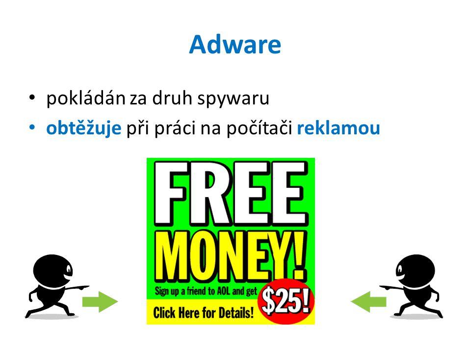 Adware pokládán za druh spywaru obtěžuje při práci na počítači reklamou