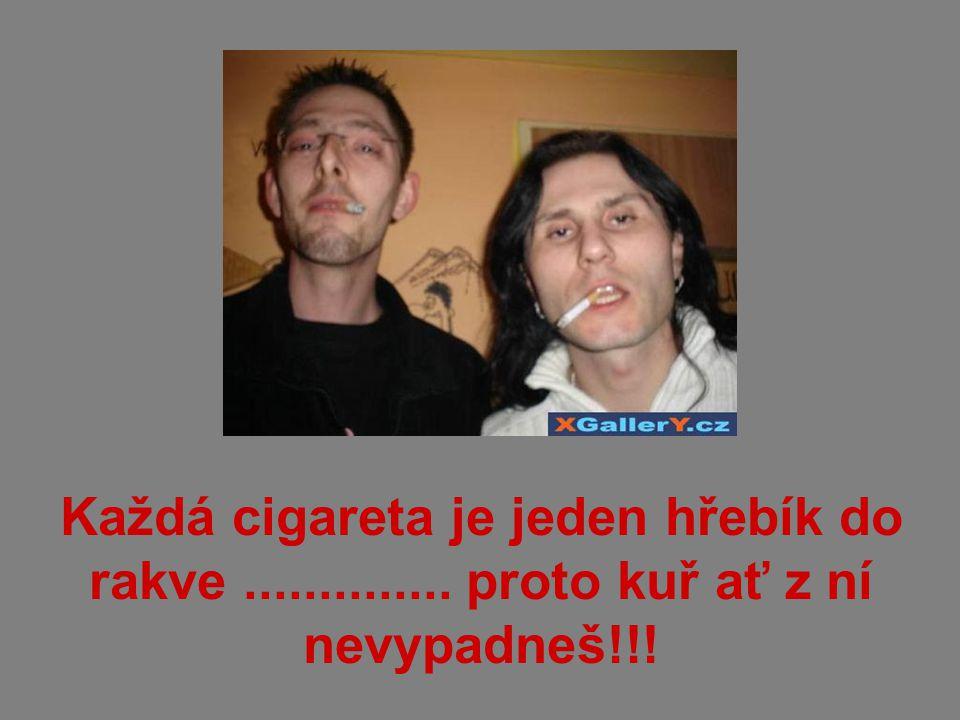 Každá cigareta je jeden hřebík do rakve.............. proto kuř ať z ní nevypadneš!!!