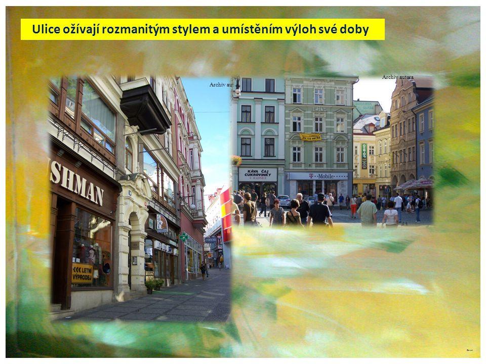 ©c.zuk Archiv autora Ulice ožívají rozmanitým stylem a umístěním výloh své doby Archiv autora