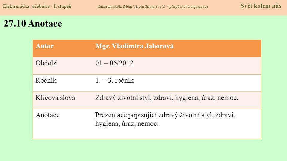 27.9 Použité zdroje, citace Elektronická učebnice - I.