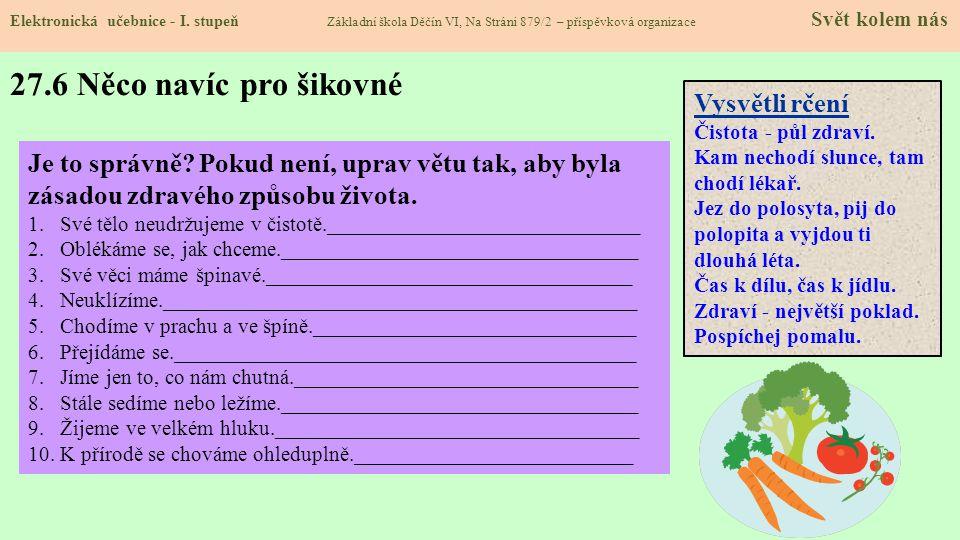 27.5 Procvičení a příklady Elektronická učebnice - I.