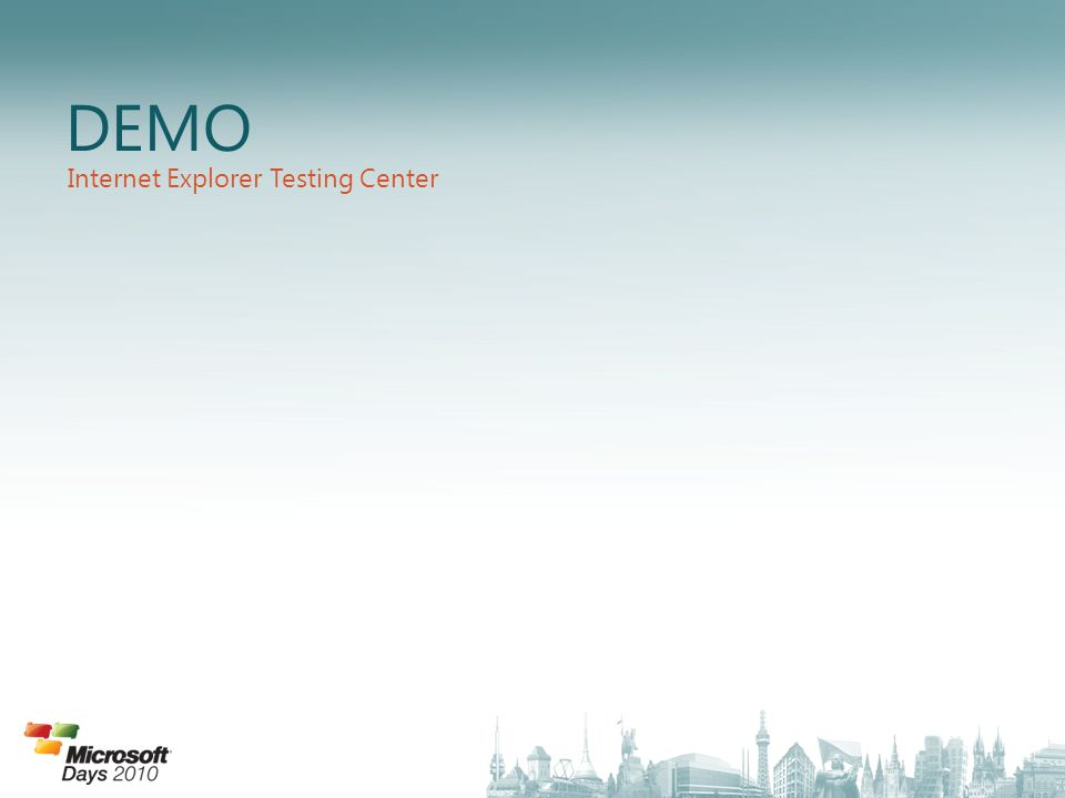 DEMO Internet Explorer Testing Center