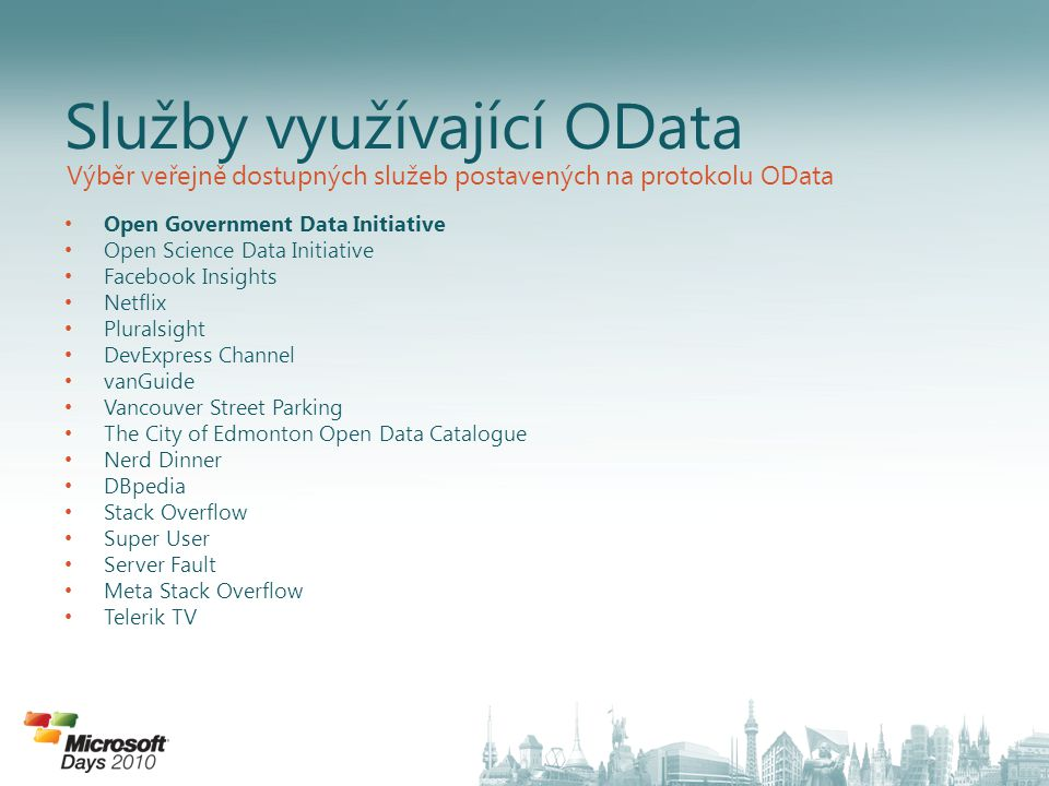 Open Government Data Initiative Open Science Data Initiative Facebook Insights Netflix Pluralsight DevExpress Channel vanGuide Vancouver Street Parkin