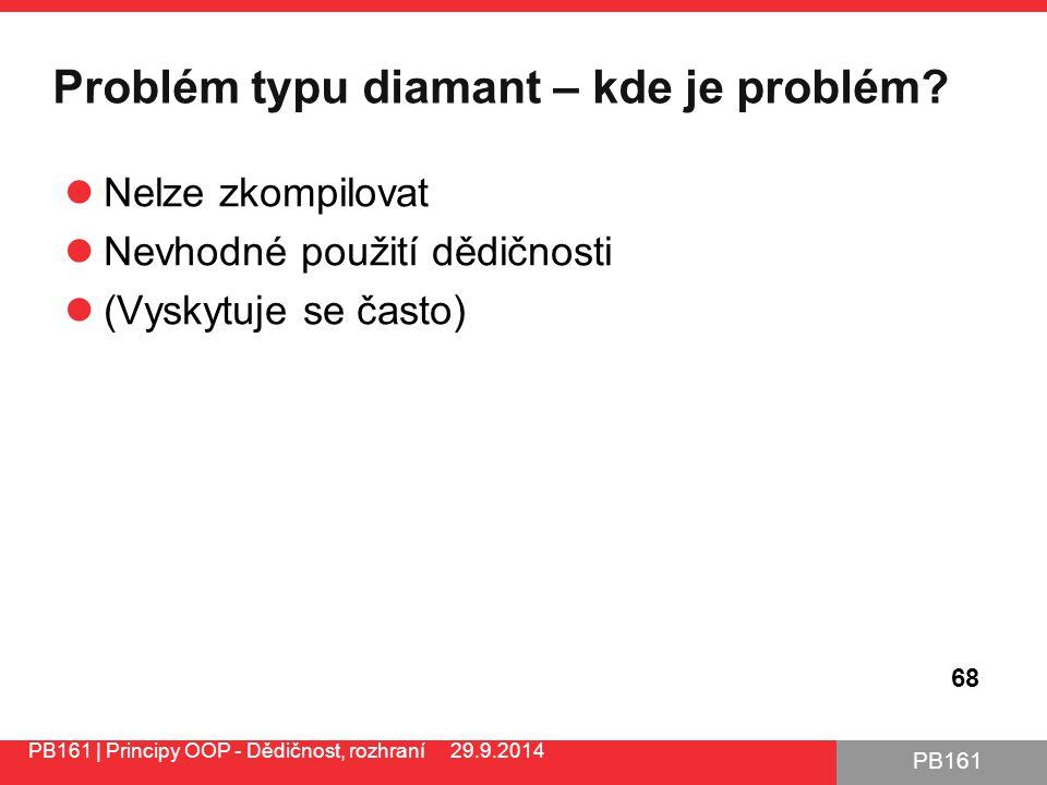 PB161 Problém typu diamant – kde je problém.