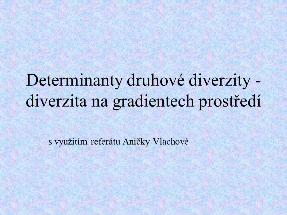 Determinanty druhové diverzity - diverzita na gradientech prostředí s využitím referátu Aničky Vlachové