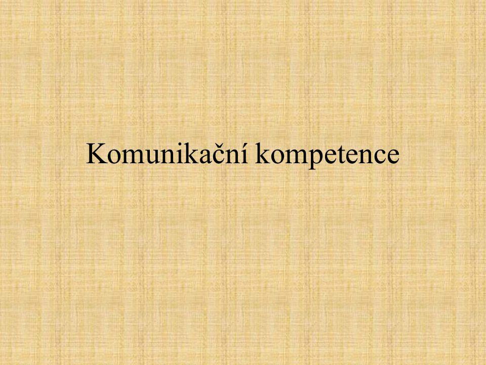 Komunikační kompetence