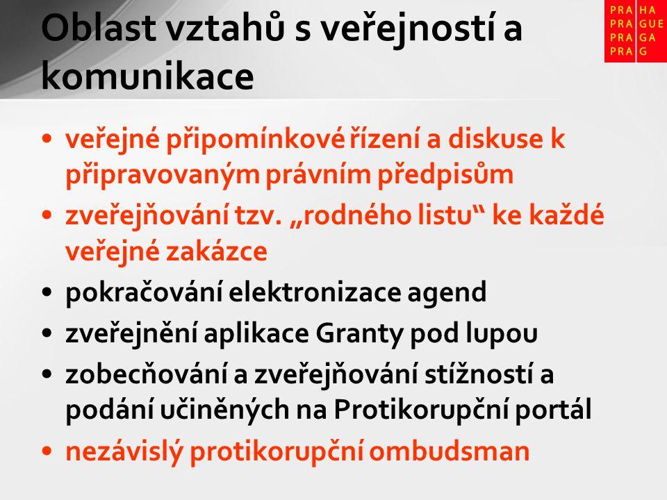 veřejné připomínkové řízení a diskuse k připravovaným právním předpisům zveřejňování tzv.