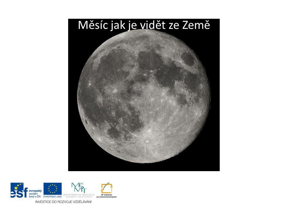 """Rotace Měsíce Měsíc je v synchronní rotaci se Zemí, což znamená, že jedna strana Měsíce (""""přivrácená strana ) je stále obrácená k Zemi."""