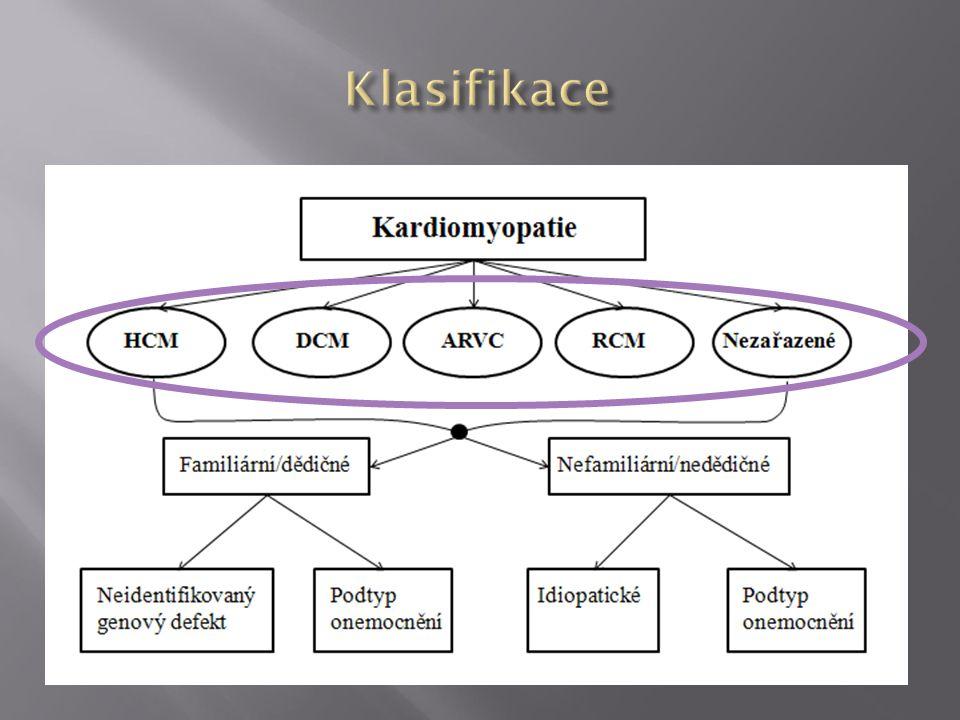 RESTRIKTIVNÍ KARDIOMYOPATIE SRDEČNÍ AMYLOIDÓZA Primární diastolická dysfunkce levé komory + Normální objemy komor & tloušťka stěny avšak… + amyloidóza Elliott P, et al.