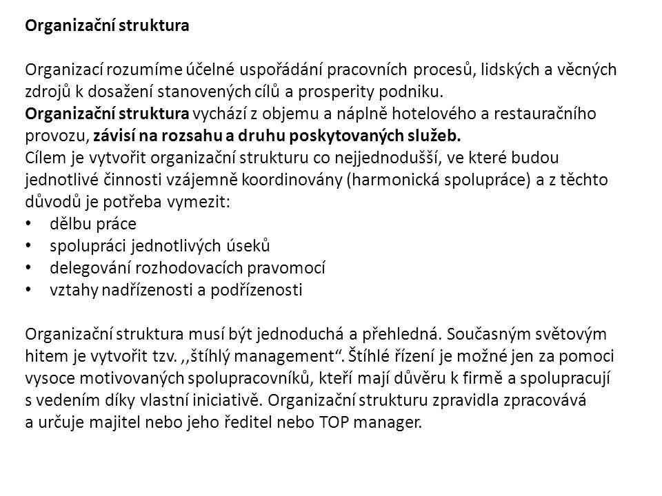 Složení, zajištění a počet pracovníků v ubyt.zař.