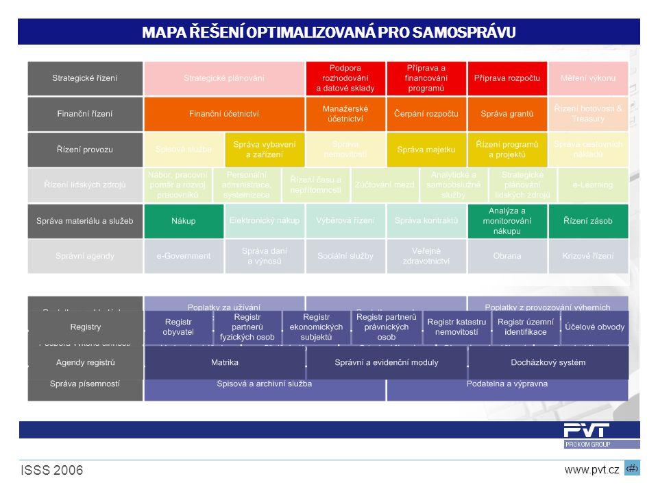 15 www.pvt.cz ISSS 2006 MAPA ŘEŠENÍ OPTIMALIZOVANÁ PRO SAMOSPRÁVU