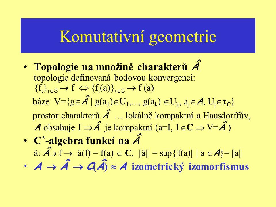 Proč to tak je – ukázka třetí Jak víme, že ireducibilní reprezentace ( H,  ) jsou jednorozměrné ? Reducibilita operátoru  (a)... neexistence netrivi