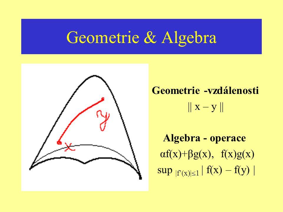 Obnovení harmonie Sjednocení prostřednictvím geometrie ? Relativita – jednoduchá interpretace geometrie Kvantová teorie – jak zavést geometrii ? Pomoc
