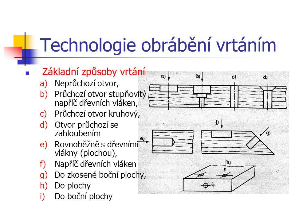 1.3.3.Technologie obrábění vrtáním Vrtání je operace, při které v obrobku (dílci) vznikají otvory kruhového nebo oválného průřezu pomocí různých druhů