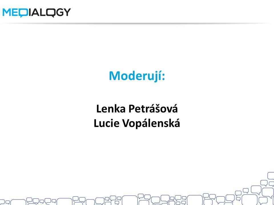 Moderují: Lenka Petrášová Lucie Vopálenská