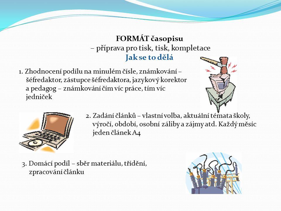 FORMÁT časopisu – příprava pro tisk, tisk, kompletace Jak se to dělá 1.