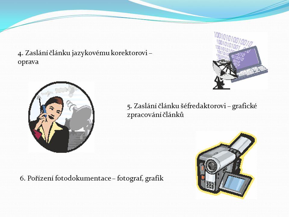 6. Pořízení fotodokumentace – fotograf, grafik 4.