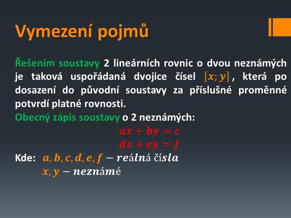 Soustava třech rovnic o 3 neznámých