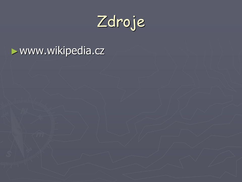 Zdroje ► www.wikipedia.cz