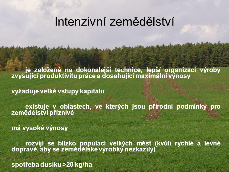 Postavení ČR v EZ ČR je na 15 místě v rozloze zemědělské půdy využívané v EZ a na 8 místě v podílu EZ z celkové výměry zemědělské půdy
