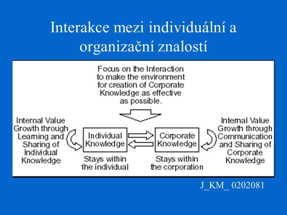 J_KM_ 0202081 Interakce mezi individuální a organizační znalostí