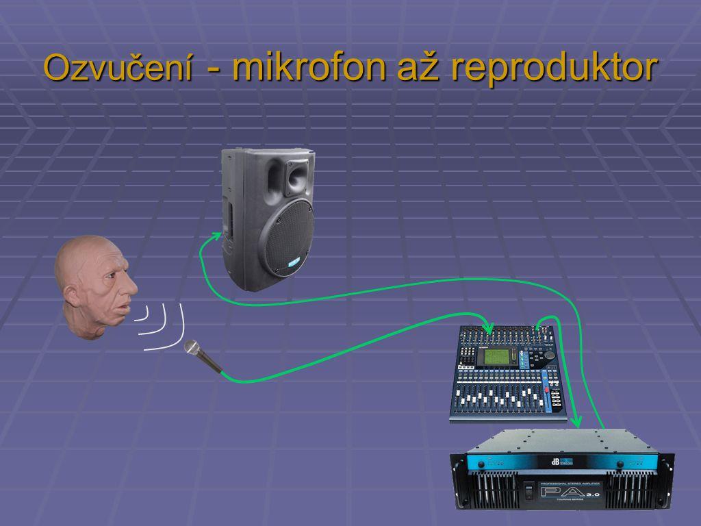 Ozvučení - mikrofon až reproduktor