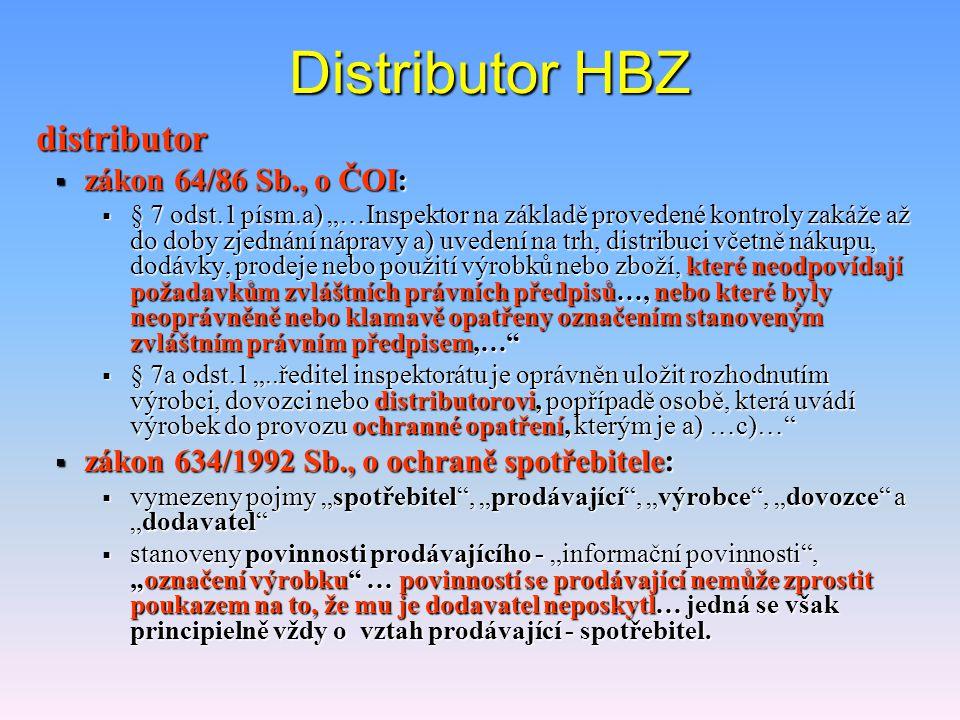 """Metrologické kontroly HBZ s """"e""""  v případě dovozu nese odpovědnost za splnění požadavků legislativy dovozce  buď má vlastní systém kontroly množství"""