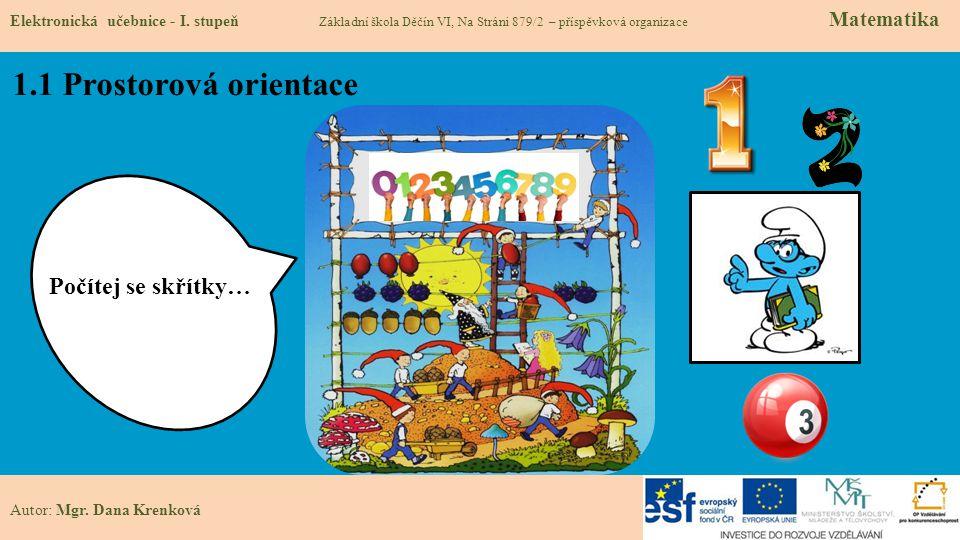 1.1 Prostorová orientace Elektronická učebnice - I.