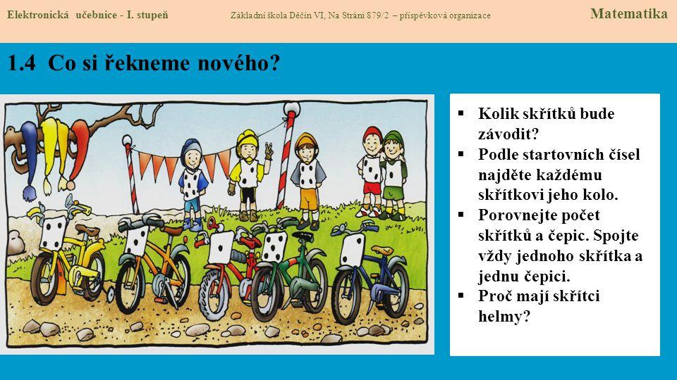1.5 Procvičení.Orientuj se na obrázku. Elektronická učebnice - I.