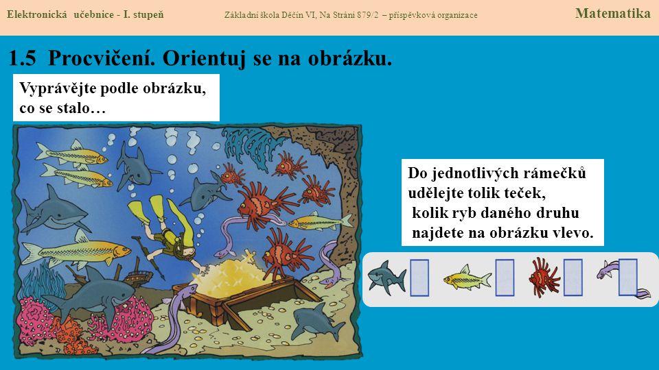 1.5 Procvičení. Orientuj se na obrázku. Elektronická učebnice - I.