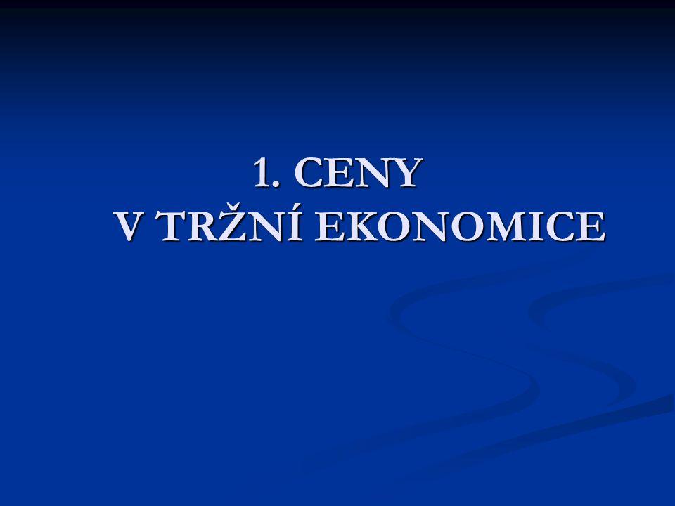 1. CENY V TRŽNÍ EKONOMICE