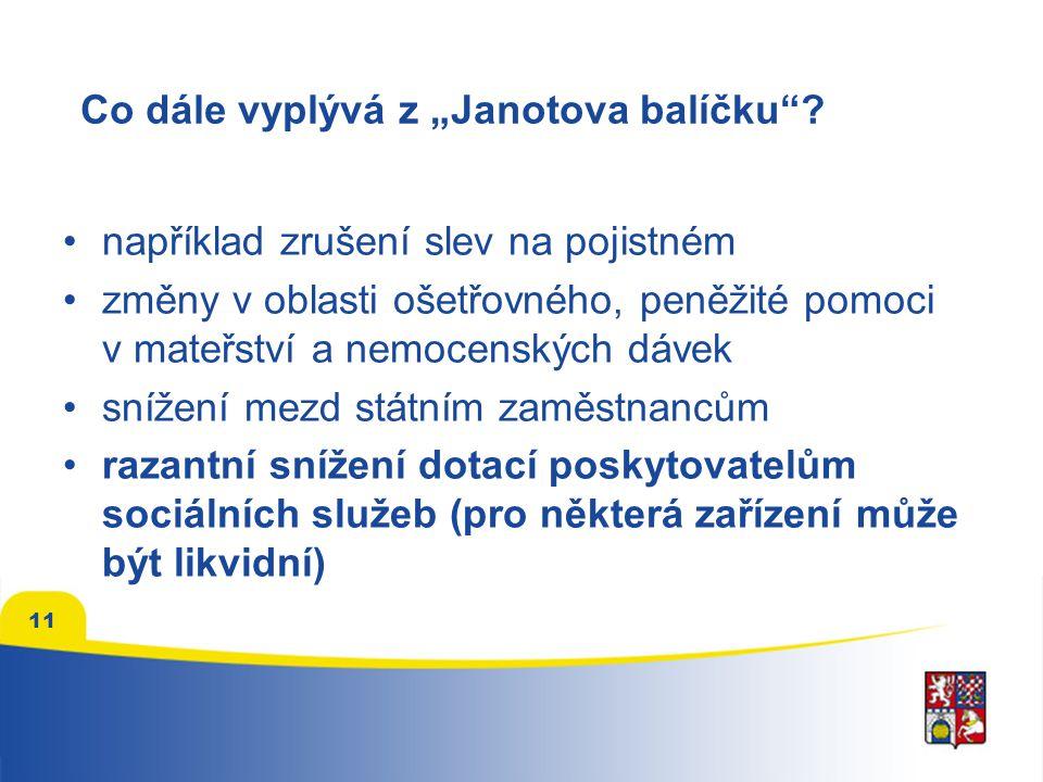 """11 Co dále vyplývá z """"Janotova balíčku ."""