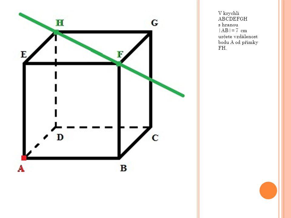 Pokud využijeme poměru odpovídajících stran, můžeme bez složitějších výpočtů určit vzdálenost AP.