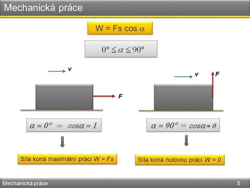Úloha 1 Mechanická práce 6 Vypočítej práci, kterou vykoná chlapec, táhne-li po vodorovné rovině sáně a napíná při tom provaz pod úhlem 60° silou 20 N.