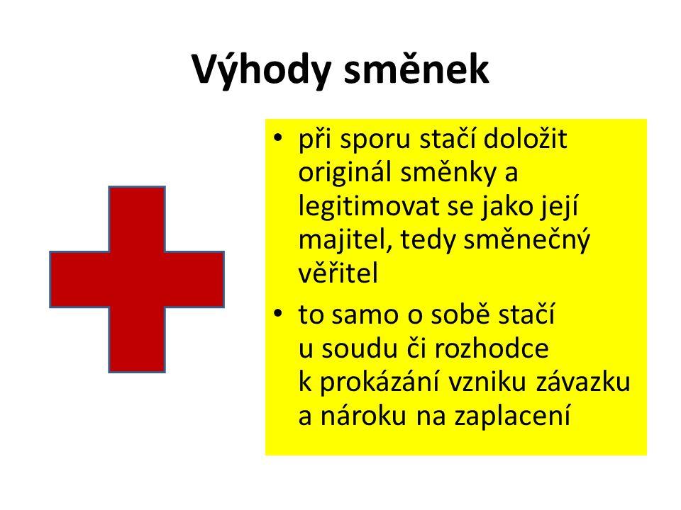 ZDROJE 1.Zákon č.191/1950 Sb. o směnkách a šecích 2.KLÍNSKÝ, P., MűNCH, O.
