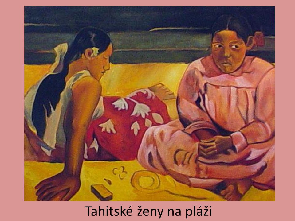 Tahitské ženy na pláži