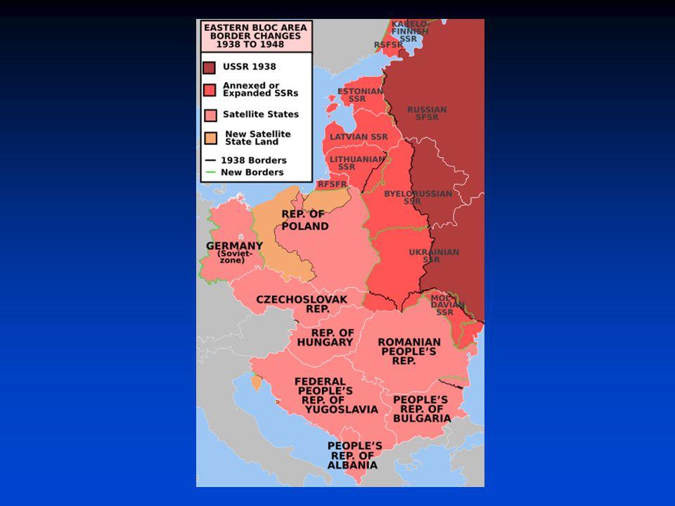 Posílení levicových sil  SSSR prezentován jako absolutní vítěz  s postupem sovětských jednotek posilování komunistických stran (budoucí sovětská sféra)  celkově v celé Evropě posun směrem k levici