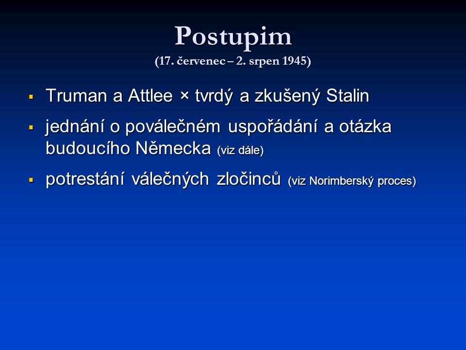 Postupim (17. červenec – 2. srpen 1945)