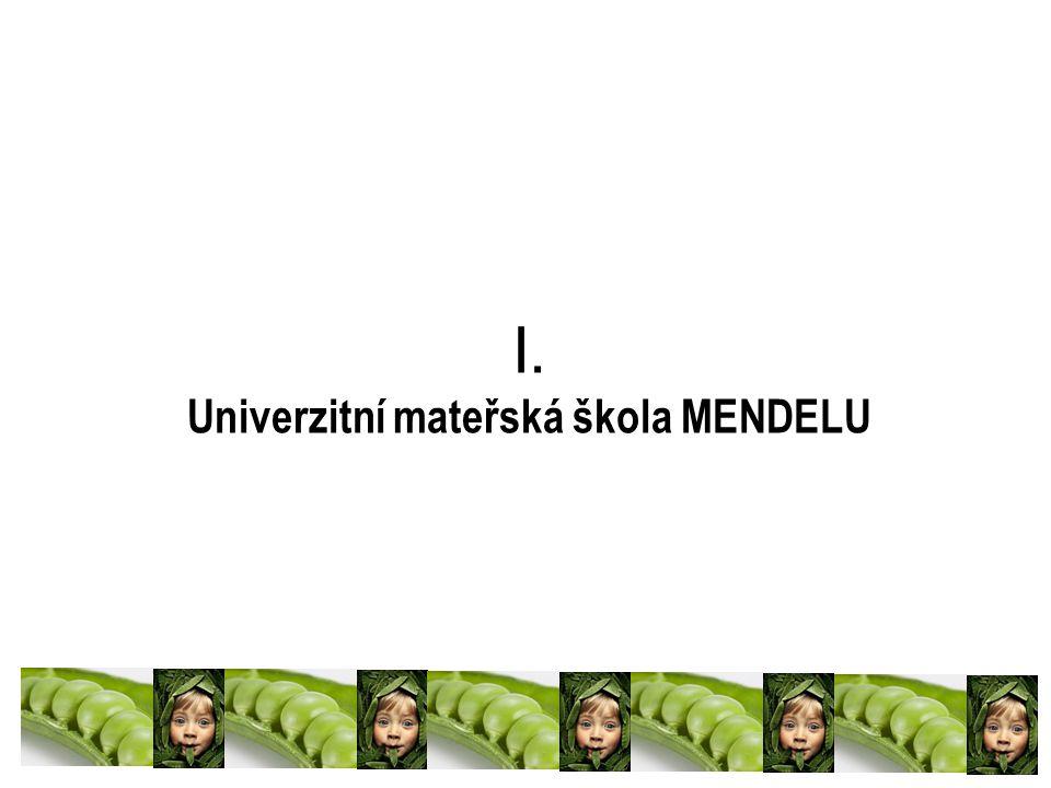 I. Univerzitní mateřská škola MENDELU