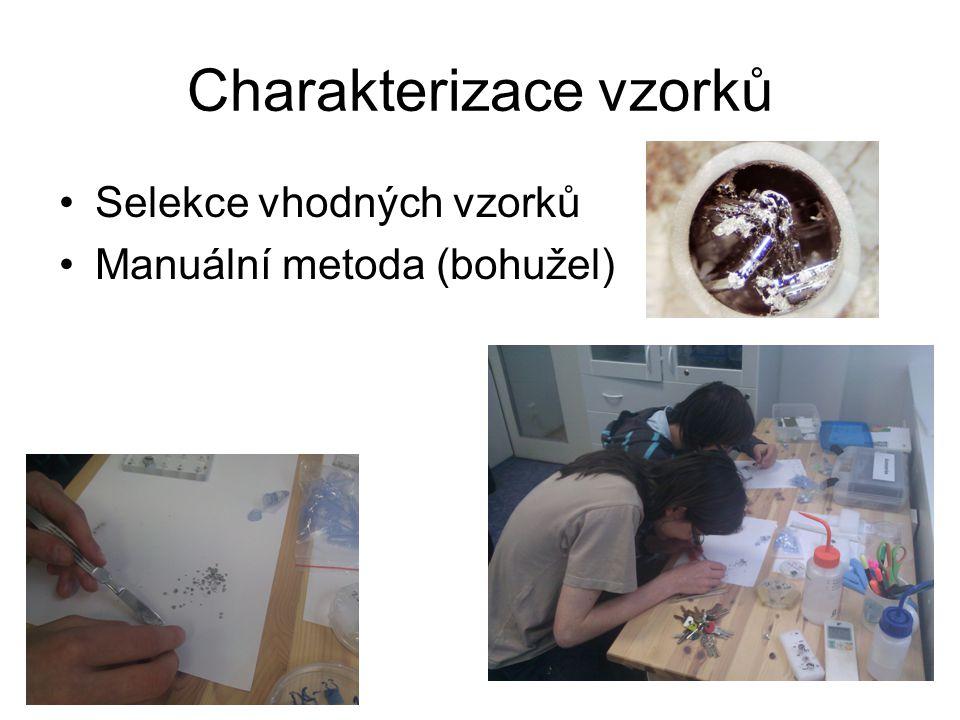 Charakterizace vzorků Selekce vhodných vzorků Manuální metoda (bohužel)