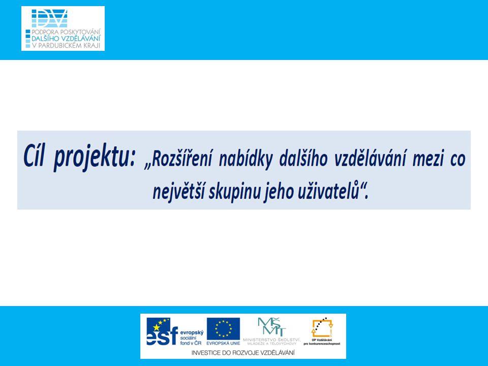 Projekt má přímou vazbu na projekty UNIV Působí jako prostředník mezi nabídkou vzdělávacích institucí a poptávkou sociálních partnerů v oblasti vzdělávání