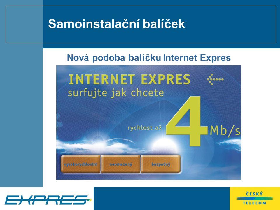 Samoinstalační balíček Nová podoba balíčku Internet Expres