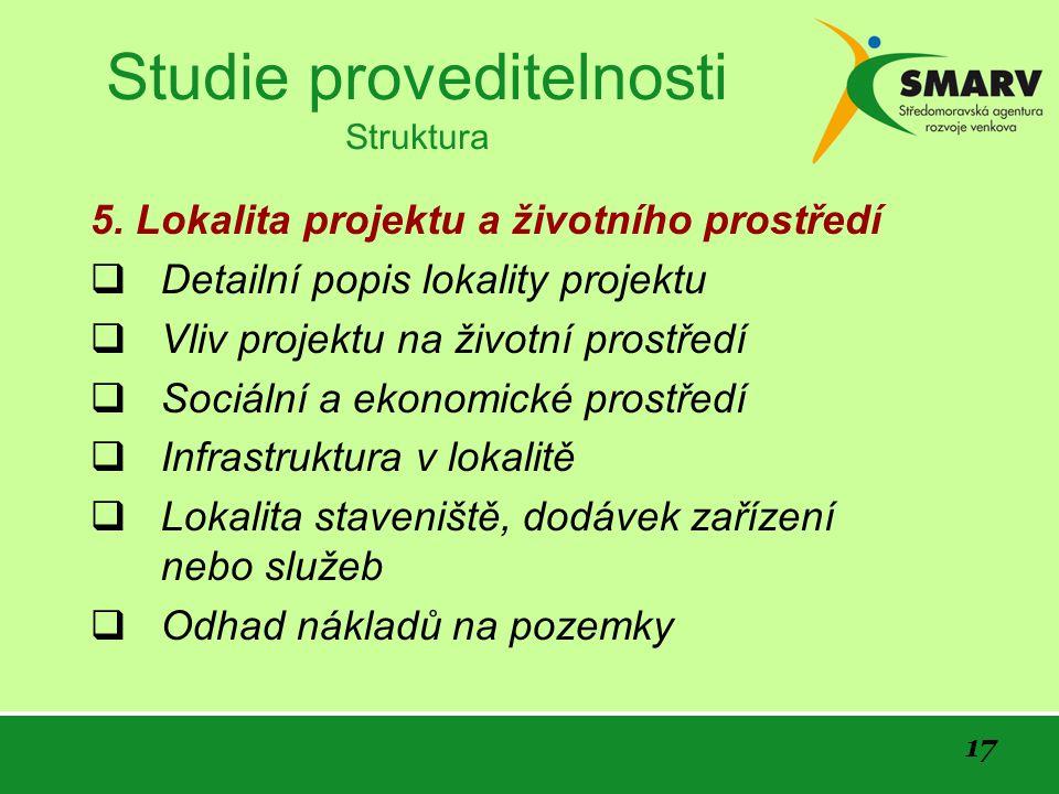 17 Studie proveditelnosti Struktura 5.