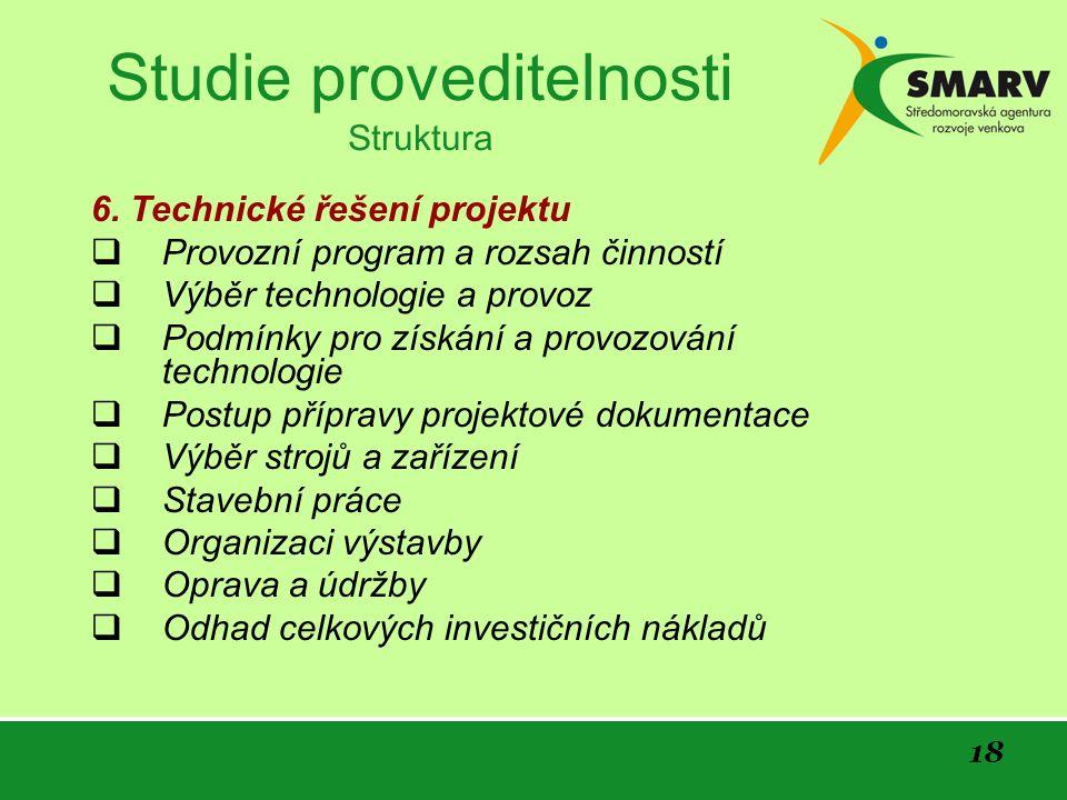 18 Studie proveditelnosti Struktura 6.
