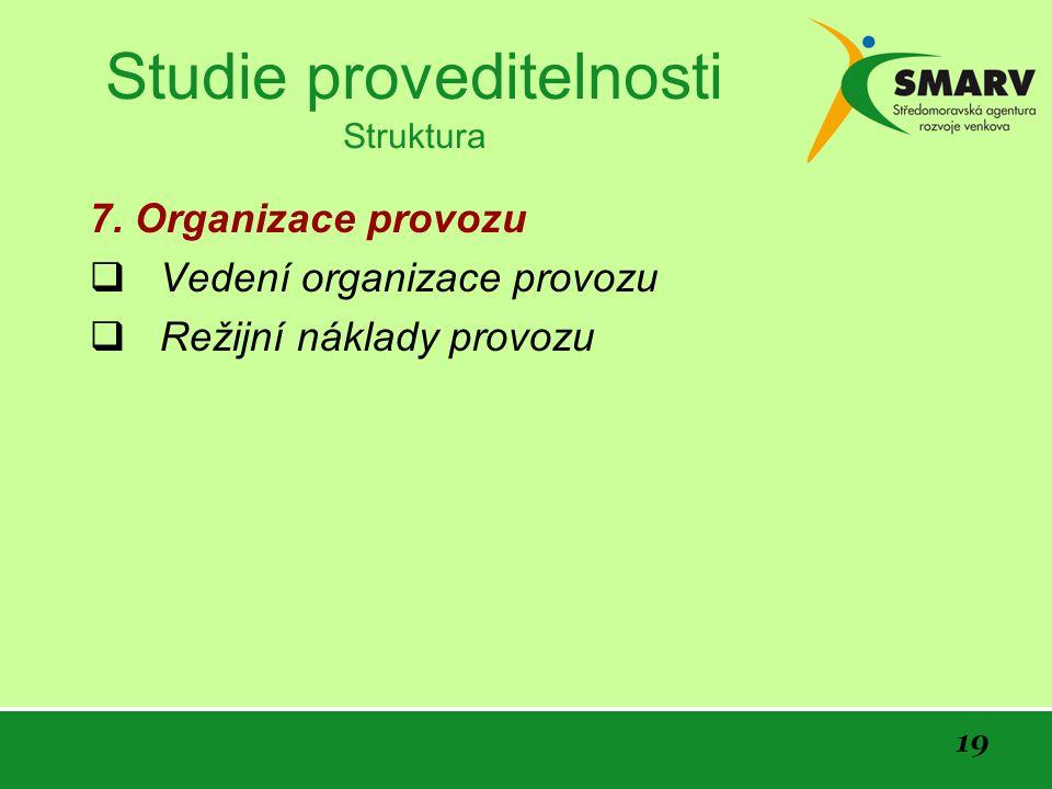 19 Studie proveditelnosti Struktura 7.