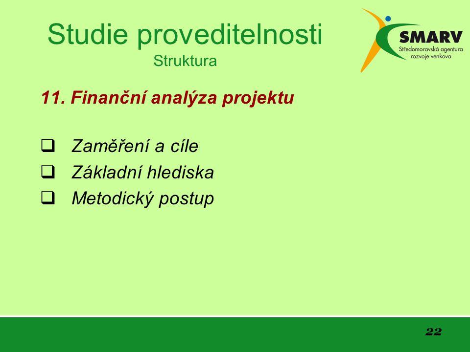 22 Studie proveditelnosti Struktura 11.