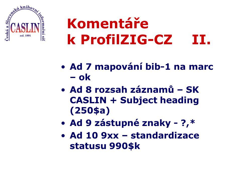 Komentáře k ProfilZIG-CZ II.