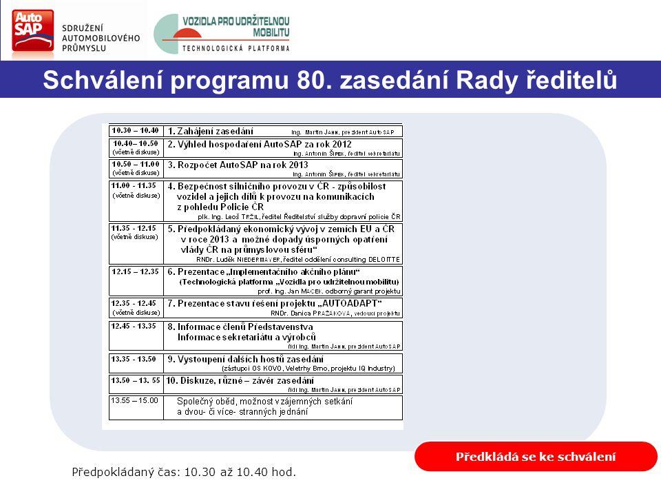 2.Výhled hospodaření AutoSAP za rok 2012 /1 Ing.